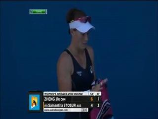 Australian Open 2013. 2 круг. Чжэн Цзе (Китай) - Саманта Стосур (Австралия)